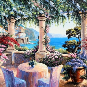 'Al Fresco In Amalfi' By Graham Denison. SOLD