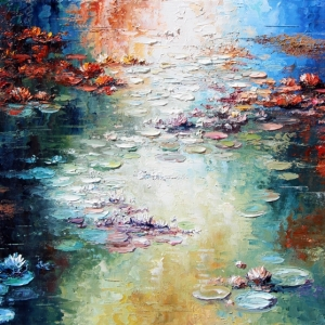 'Lilly Pond In Fall' By Graham Denison. SOLD