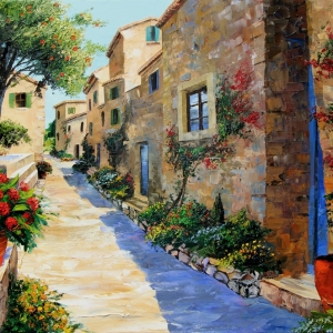 'Andalucian Siesta' by Graham Denison. SOLD
