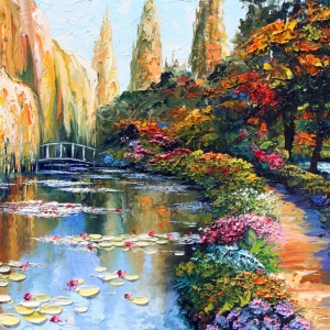 'Autumn In Giverny' by Graham Denison. SOLD